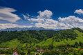 Summer eastern European mountain scenery Royalty Free Stock Photography