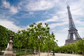 Summer eiffel tower paris france Royalty Free Stock Image