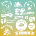 Summer elements design vintage style Stock Photos