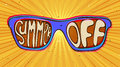 Summer end illustration concept. sunglasses with lettering Royalty Free Stock Photo