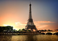 Summer evening in Paris Royalty Free Stock Photo