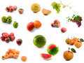Summer and exotic fruits Stock Photography
