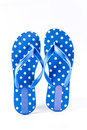 Summer fashion blue Flip Flop Sandals  on White backgrou Royalty Free Stock Photo