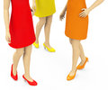 Summer fashion d generated picture of three different colored dresses Royalty Free Stock Photography