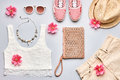 Summer Fashion girl clothes set. Street style Royalty Free Stock Photo