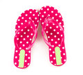 Summer fashion red Flip Flop Sandals  on White backgroun Royalty Free Stock Photo