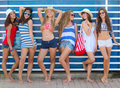 Summer fashion teens Royalty Free Stock Photo