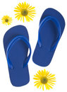 Summer Flip Flop Sandals Stock Photography