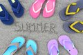 Summer flip flops Royalty Free Stock Photo