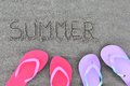 Summer flip flops Stock Photography