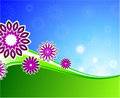 Summer floral wave background Royalty Free Stock Images