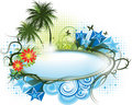 Summer flower banner Stock Photo
