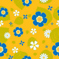Summer flower seamless pattern. Royalty Free Stock Image