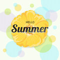 Summer Flowers Background or Summer floral Design on colorful ba