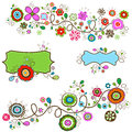 Summer flowers design vector illustration Stock Image