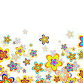 Summer flowers illustration of many colorful Royalty Free Stock Photos