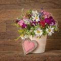 Summer flowers in vase