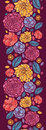 Summer flowers vertical seamless pattern vector colorful abstract elegant ornament background Stock Photography