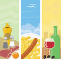 Summer food banners Stock Images