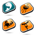 Summer food icons Royalty Free Stock Photo