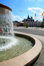 Summer fountain in France Stock Photos