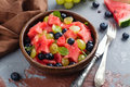 Summer fruit salad Royalty Free Stock Photo