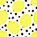 Summer fruit vector illustration on black and white dots background. Royalty Free Stock Photo