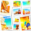 Summer fun concept collage Royalty Free Stock Photos