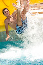 Summer fun in waterpark Royalty Free Stock Photo
