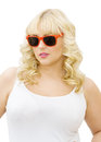 Summer fun - woman wearing sunglasses Stock Photography