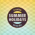 Summer geometric retro background about holidays Stock Photography