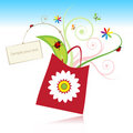 Summer gift with card Royalty Free Stock Photo