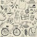 Summer good mood doodles set. Royalty Free Stock Photo