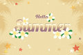 Summer greeting season with Plumeria Flowers or Summer floral De