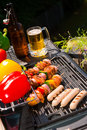 Summer grill party a fresh Stock Photos