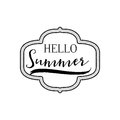 Summer - Handmade template. Isolated vector object logo is a badge for your design