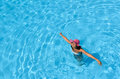 Summer happiness in pool Royalty Free Stock Photo