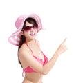 Summer and Happy bikini girl Royalty Free Stock Photo