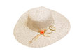 Summer hat female on isolated background Royalty Free Stock Images