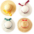 Summer hat (hats) Royalty Free Stock Photography