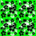 Summer hawaiian flower pattern background Royalty Free Stock Photo