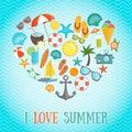 Summer Heart Poster