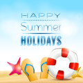 Summer holiday background happy holidays creative Stock Images