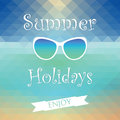 Summer holiday enjoy background Royalty Free Stock Images