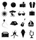 Summer holiday icons set Royalty Free Stock Photo