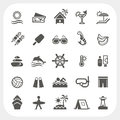 Summer holiday icons set Royalty Free Stock Photo