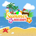 Summer holiday poster background vector illustration Stock Photos