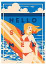 Summer Holiday and Summer Surf Camp poster.