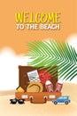 Summer holiday vacation concept, illustration