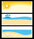 Summer holidays banners set Royalty Free Stock Photo